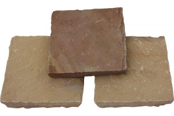 Global Stone - Pathway Setts - Modak Rose - 150 x 150mm - Individual