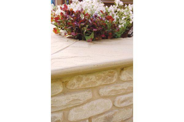 Global Stone - Sandstone Bullnose Flags - Modak Rose - 560 x 422mm - Individual