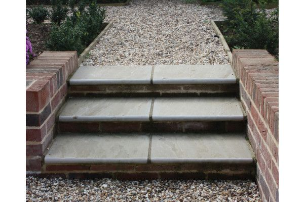 Global Stone - Sandstone Bullnose Flags - York Green - 560 x 422mm