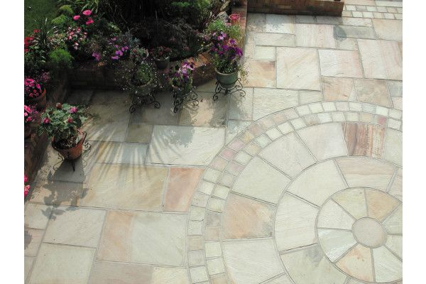 Global Stone - Sandstone Collection - Mint - Circles