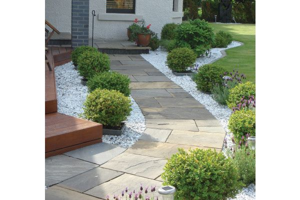 Global Stone - Sandstone Collection - Monsoon Black - Circles