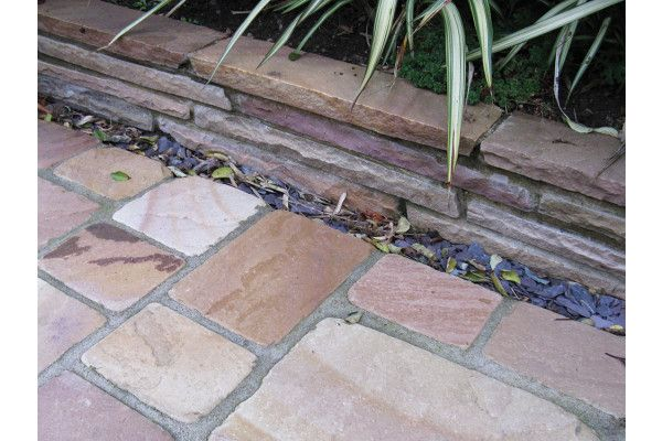 The edging used as walling