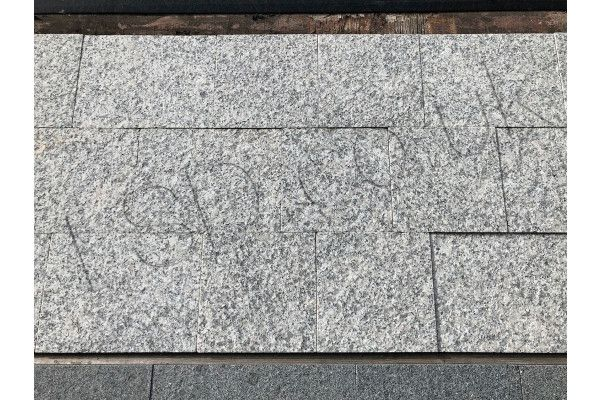 Natural Granite Sawn Block Paving Setts - Light Grey - Project Pack