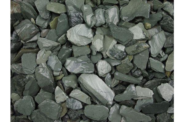 Green Slate Chippings - 20mm