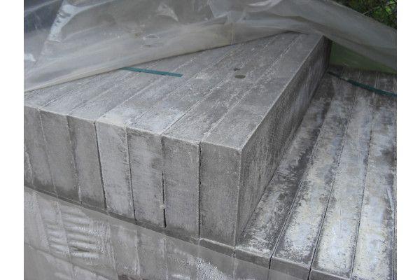 Thick Flat Top Edging - Pressed Concrete - Grey (Individual Edgings)