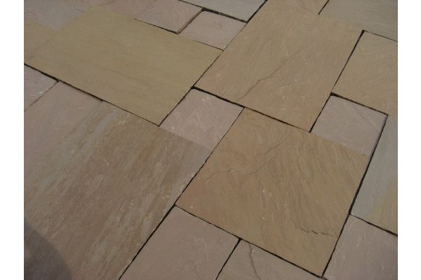 Indian Sandstone Paving - Autumn Brown - Single Sizes