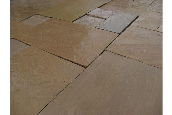 Indian Sandstone Paving - Autumn Brown - Patio Packs