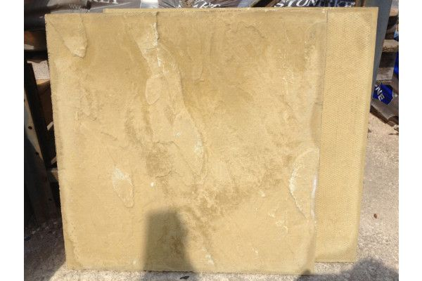 Cheap Paving Slabs - Riven - Buff - 600 x 600mm