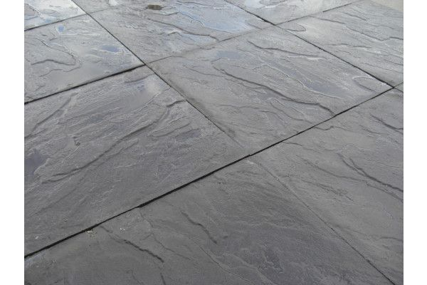Cheap Paving Slabs - Riven - Black - 450 x 450mm