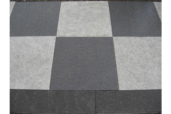 Wet Dark Grey and Light Grey Granite