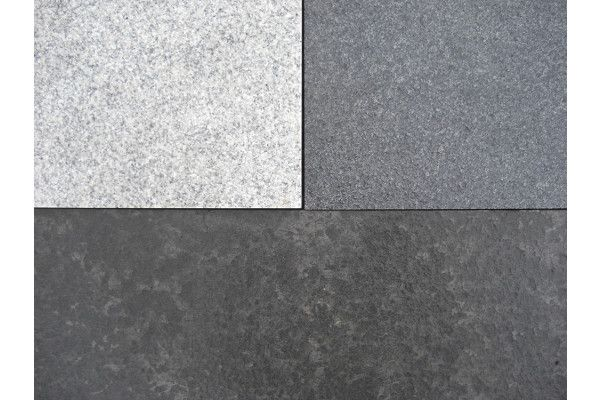 Dry Dark Grey and Light Grey Granite