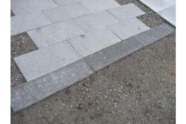 Natural Granite Paving - Black - Planked - 800 x 200mm - Individual