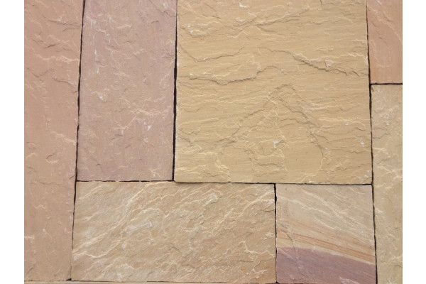 Indian Sandstone Paving - Lalitpur Yellow - Patio Pack - Calibrated