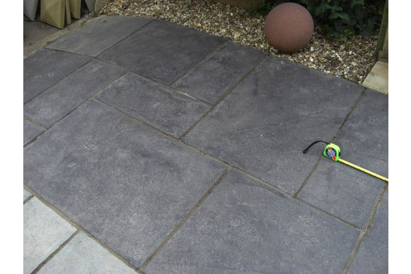 Indian Limestone Paving   Midnight Kota Black   Calibrated   Patio Pack