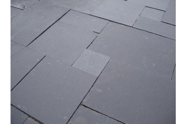 Indian Limestone Paving - Midnight Kota Black- Calibrated - Single Sizes