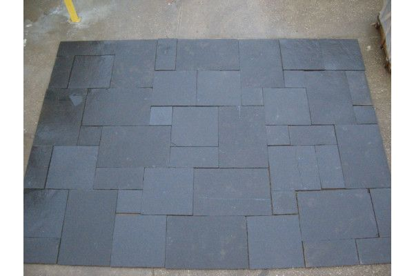 Indian Limestone Paving - Midnight Kota Black - Calibrated - Patio Pack