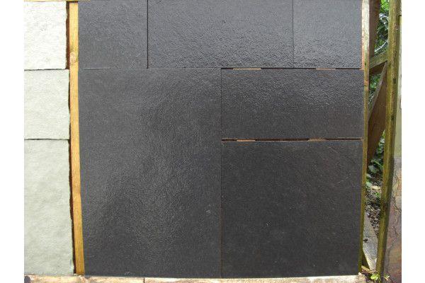 Indian Limestone Paving - Sawn Midnight Kota Black - Calibrated - Patio Pack