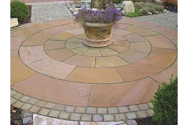 Indian Sandstone Paving - Modak - Circles