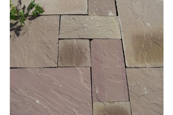 Indian Sandstone Paving - Modak / Modac - Patio Pack - Calibrated