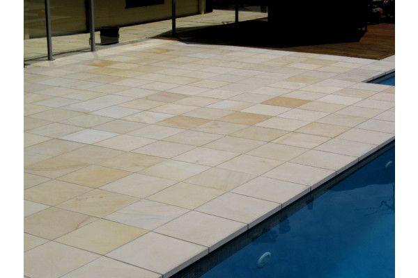 Indian Sandstone Paving - Polished Mint - Single Sizes
