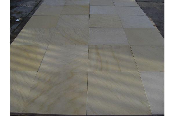 Polished Mint Single Sizes Indian Sandstone Paving