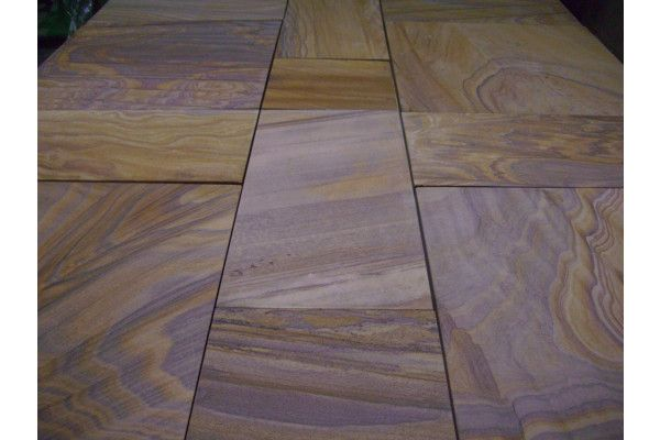 Indian Sandstone Paving - Polished Rainbow - Patio Pack
