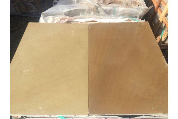 Indian Sandstone Paving - Polished Raj Green - 900 x 600mm - Slab