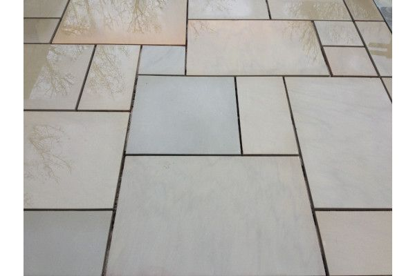 Indian Sandstone Paving - Polished Raj Green - Patio Pack