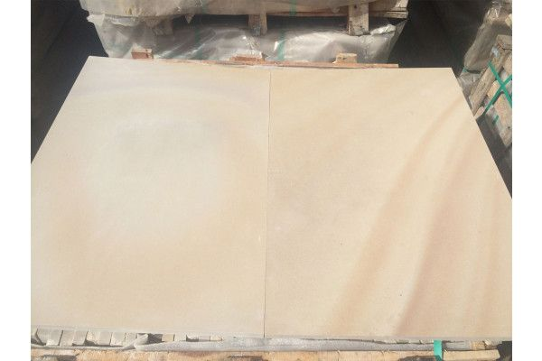 Indian Sandstone Paving - Polished Rippon Buff - 900 x 600mm - Slab