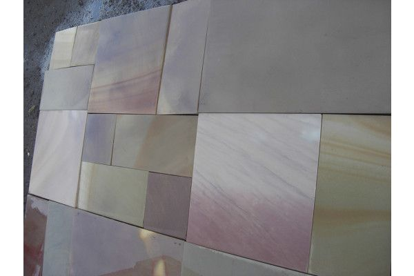 Indian Sandstone Paving - Polished Rippon Buff - Patio Pack