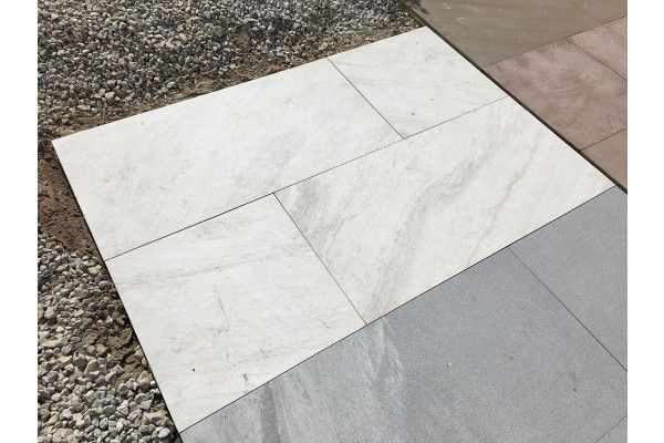 Pearl Ceramic Vitrified Porcelain Paving | Single Sizes | White Marble