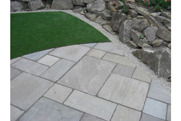 Tumbled Raj Green Patio Pack Indian Sandstone Patio Slabs