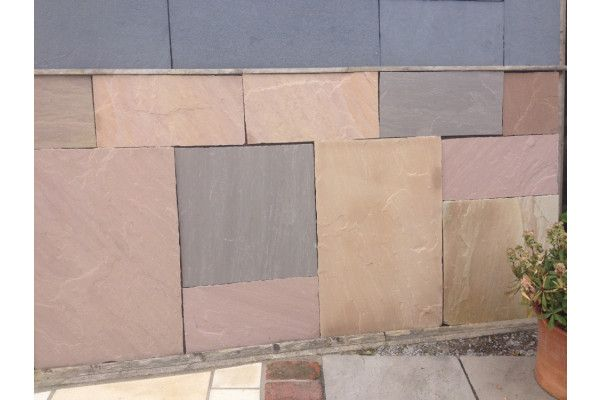 Indian Sandstone Slabs - Autumn Brown - Patio Pack - Thicker Depth
