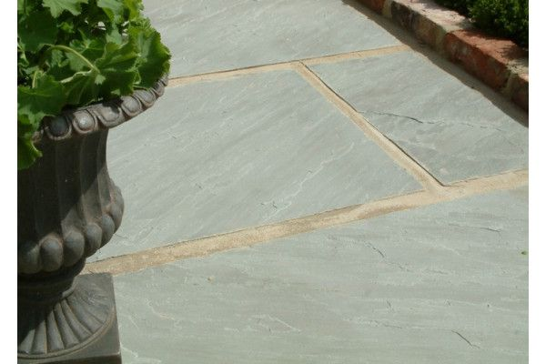 Indian Sandstone Paving - Kandla Grey - Single Sizes (Individual Slabs)