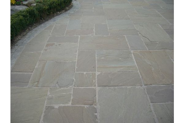 Indian Sandstone Paving - Raj Green - Single Sizes