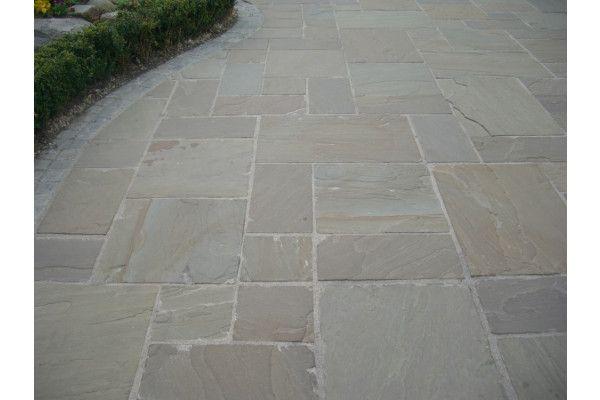 Raj Green Indian Sandstone Paving Patio Pack Lsd Co Uk