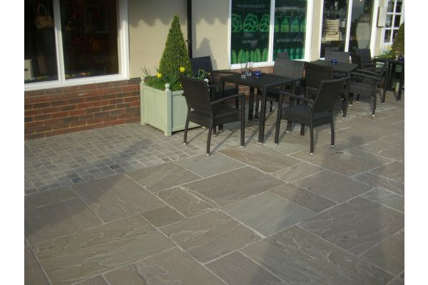 Raj Green Indian Sandstone Paving Patio Pack Lsd Co Uk