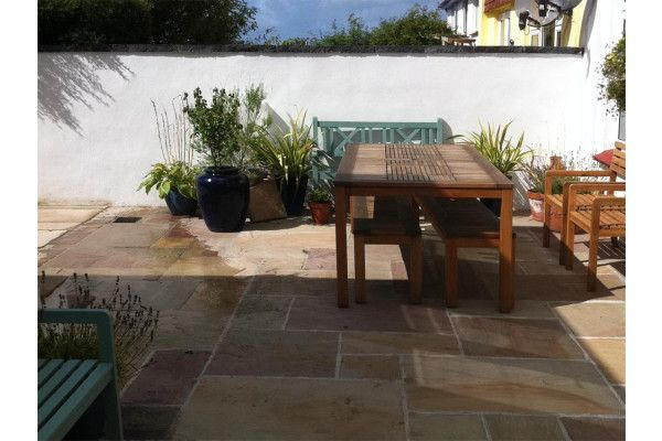 Indian Sandstone Paving - Rippon Buff - Single Sizes (Individual Slabs)