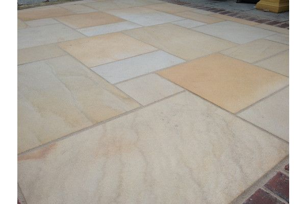 Indian Sandstone Paving - Blasted Saturn Dust - Patio Pack