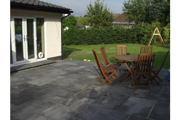 Indian Limestone Paving - Sawn Midnight Kota Black - Patio Packs