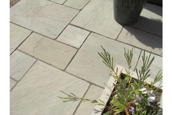 Indian Sandstone Paving - Tumbled - Raj Green - Patio Packs
