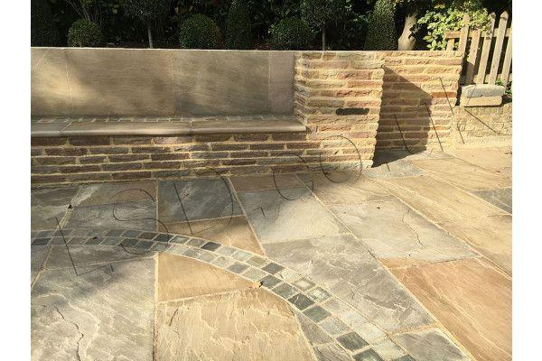 Indian Sandstone Paving - Raj Green - Patio Pack - Calibrated