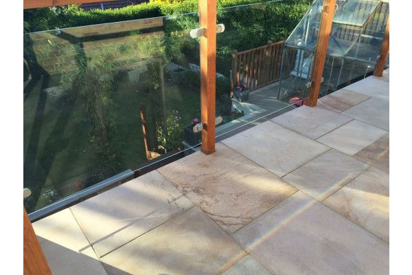 Natural Sandstone Paving - Imperial Cream Smooth - Single Sizes