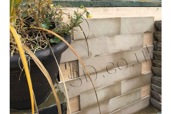 Natural Stone Veneer Wall Cladding - Smooth Imperial Cream - 300 x 100 x 15mm