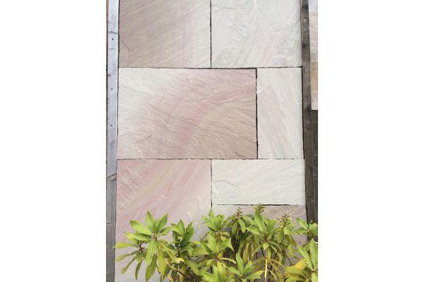 Indian Sandstone Paving - Raveena - Patio Pack - Calibrated