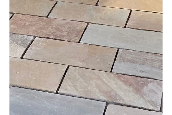 Indian Sandstone Paving - Rippon Buff - Single Sizes - Calibrated