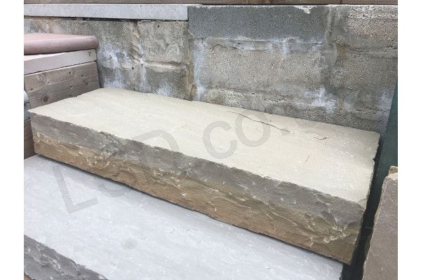 Indian Sandstone Thick Block Steps - Raj Green