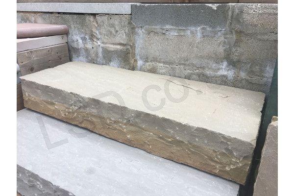 Indian Sandstone Thick Block Steps - Raj Green - 1000 x 350mm - Individual
