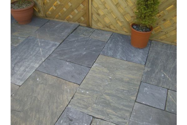 Black Indian Sandstone Sagar Black Charcoal Yorkstone