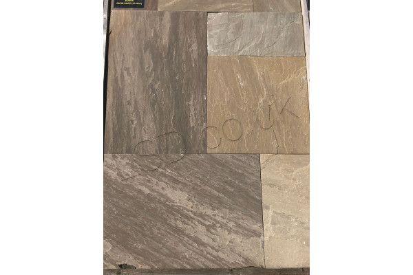 Indian Sandstone Paving - Sawn Raj Green - Patio Packs